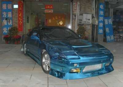 Blue Chrome Car 9
