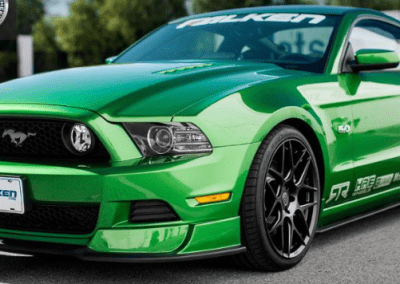 GREEN CHROMED SPRAYED MUSTANG