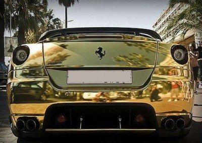 Gold Chrome Car 11