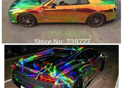 Lazer chrome car 1