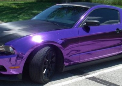 PURPLE CHROME MUSTANG