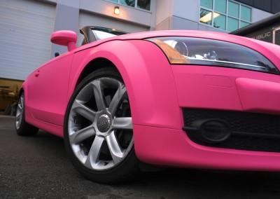 Pink Matt Chrome Car
