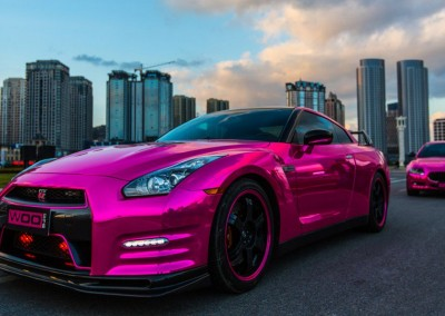 Pink chrome car 3