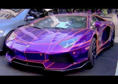 Purple Chrome Car 10
