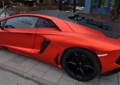 Red Matt Chrome Car