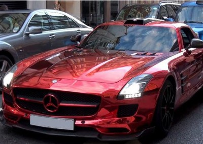Red chrome car 2