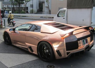 Rose Gold chrome Car 1