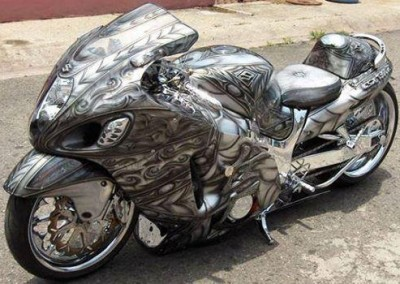 Black Chrome Sprayed Bike 1
