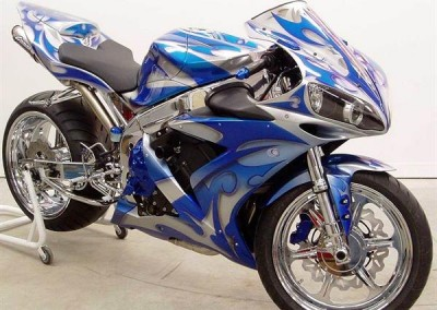 Blue Chrome Sprayed Bike 1