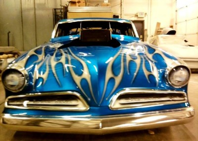 Blue Chrome Sprayed Car 2