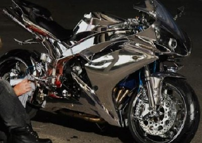 Chrome Sprayed Bike 19