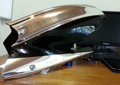 Chrome Sprayed Bike Fender 10