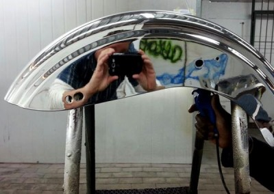 Chrome Sprayed Bike Fender 8