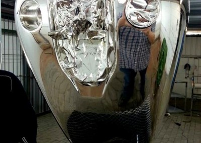 Chrome Sprayed Bike Tank 13