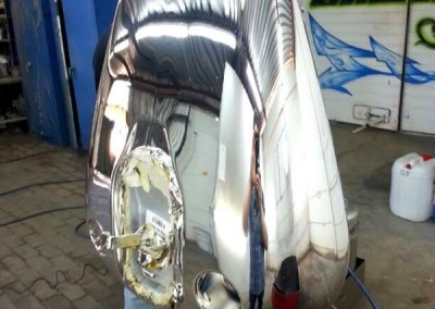 Chrome Sprayed Bike Tank 16