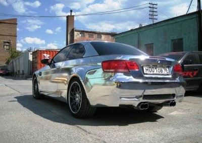 Chrome Sprayed Car 3