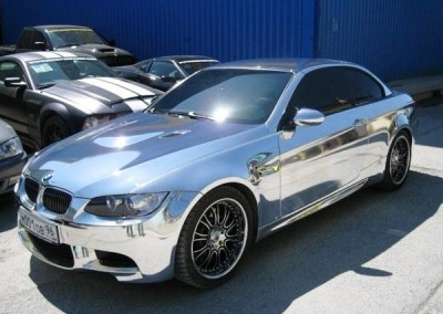 Chrome Sprayed Car 5