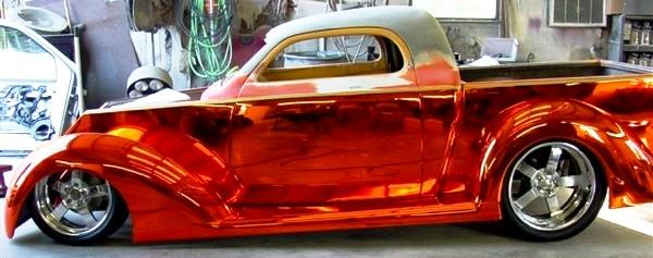Chrome Sprayed Classic Car 3