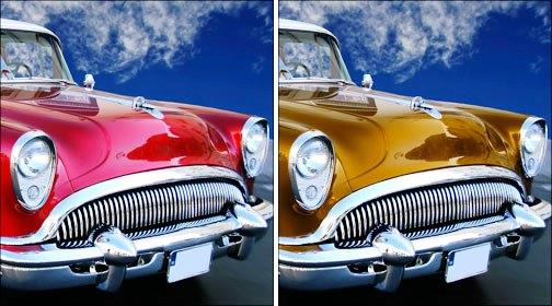 Chrome Sprayed Classic Cars
