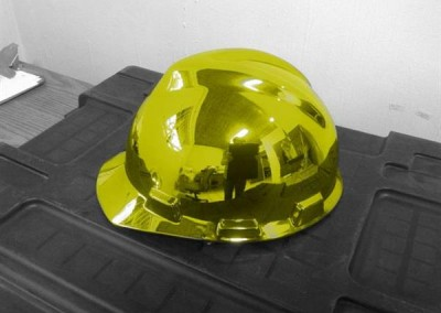 Chrome Sprayed Hard Hat 1