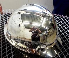 Chrome Sprayed Hard Hat 2