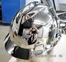 Chrome Sprayed Hard Hat 3