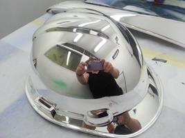 Chrome Sprayed Hard Hat 4
