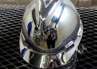 Chrome Sprayed Hard Hat 7