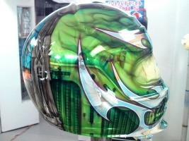 Chrome Sprayed Helmet 1