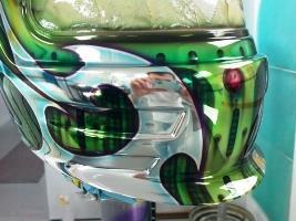 Chrome Sprayed Helmet 2