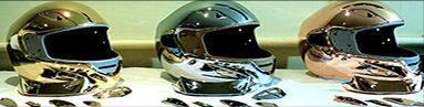 Chrome Sprayed Helmets