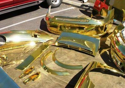 Gold Chrome Sprayed Car 2