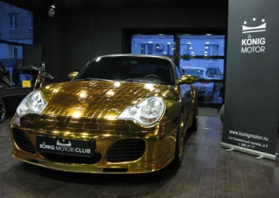 Gold Chrome Sprayed Car 3