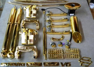 Gold Chrome Sprayed Parts 3