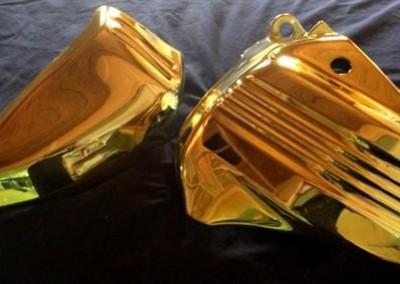 Gold Chrome Sprayed Parts