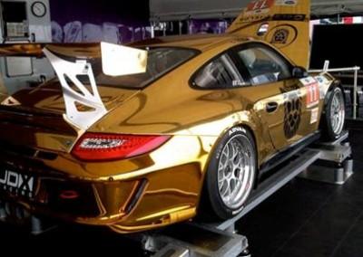 Gold Chrome Sprayed Porsche