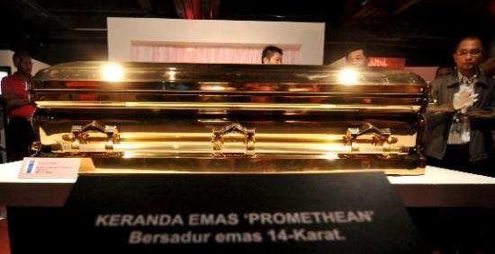 Gold Chromed Coffin 3