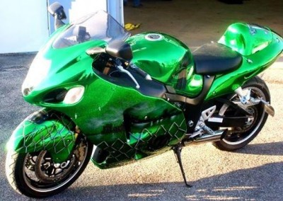 Green Chrome Sprayed Bike 4