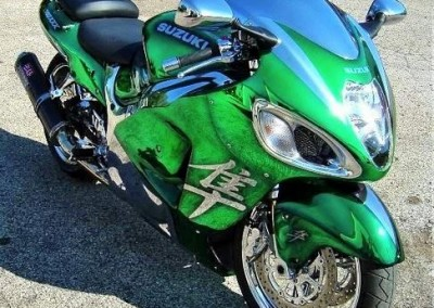 Green Chrome Sprayed Bike 5