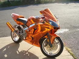Orange Chrome Sprayed Bike 1