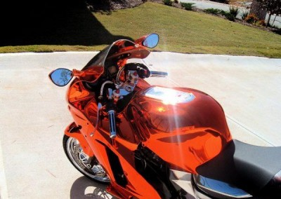 Orange Chrome Sprayed Bike 11