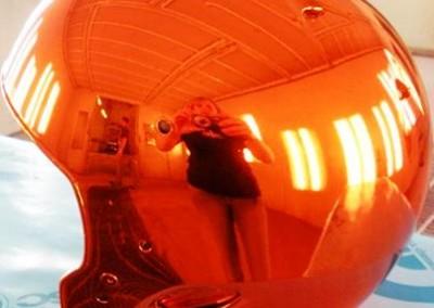 Orange Chrome Sprayed Helmet