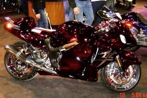 Red Chrome Sprayed Bike 1