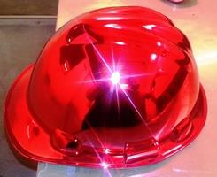 Red Tinted Chrome Hard Hat