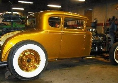 Yellow Candy & Gold Sprayed Car